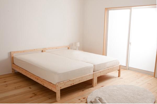 無塗装・島根県檜(ひのき)すのこベッド