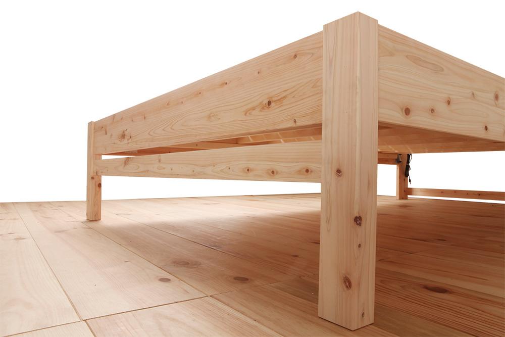島根県産ヒノキすのこベッド