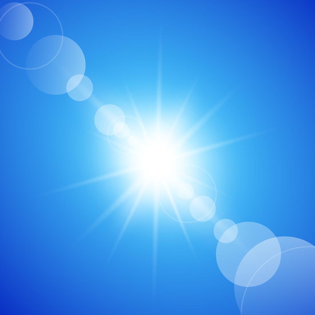 太陽をあびて